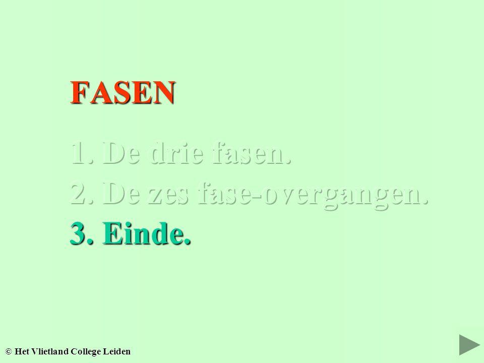 FASEN FASEN © Het Vlietland College Leiden