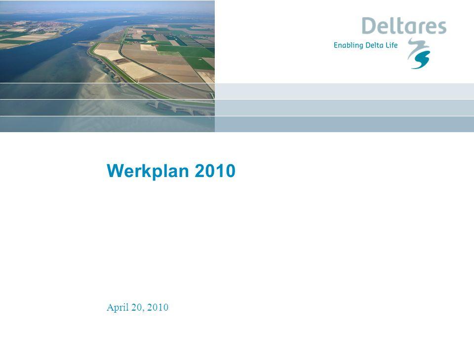 April 20, 2010 Programmering Wp 2010 Iteratief proces Mix van korte studies en trajecten voor een periode van 2 tot 4 jaar Werkplan 2010 afgestemd met RWS en NGO s Projecten staan op het punt te starten of zijn reeds gestart Zomer start programmering Wp2011