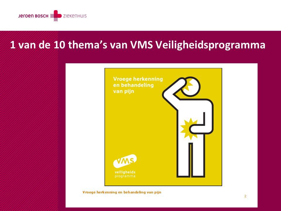 1 van de 10 thema's van VMS Veiligheidsprogramma