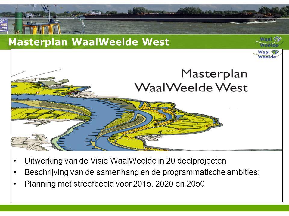 Masterplan WaalWeelde West Uitwerking van de Visie WaalWeelde in 20 deelprojecten Beschrijving van de samenhang en de programmatische ambities; Planning met streefbeeld voor 2015, 2020 en 2050