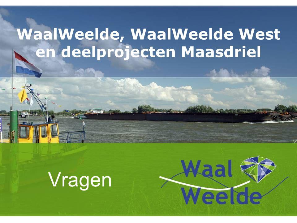 WaalWeelde, WaalWeelde West en deelprojecten Maasdriel Vragen