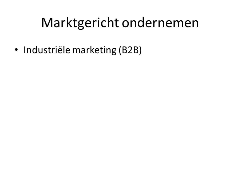 Marktgericht ondernemen Industriële marketing (B2B)