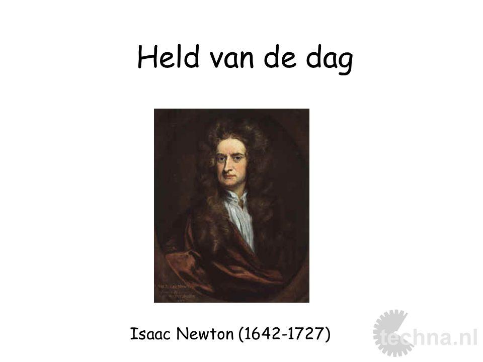 Isaac Newton (1642-1727) Held van de dag