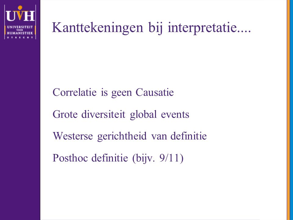 Kanttekeningen bij interpretatie....