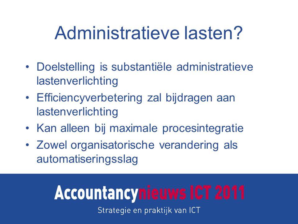 Administratieve lasten.