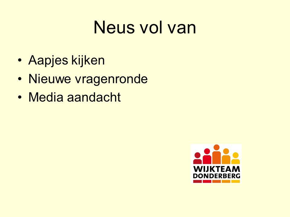 Neus vol van Aapjes kijken Nieuwe vragenronde Media aandacht