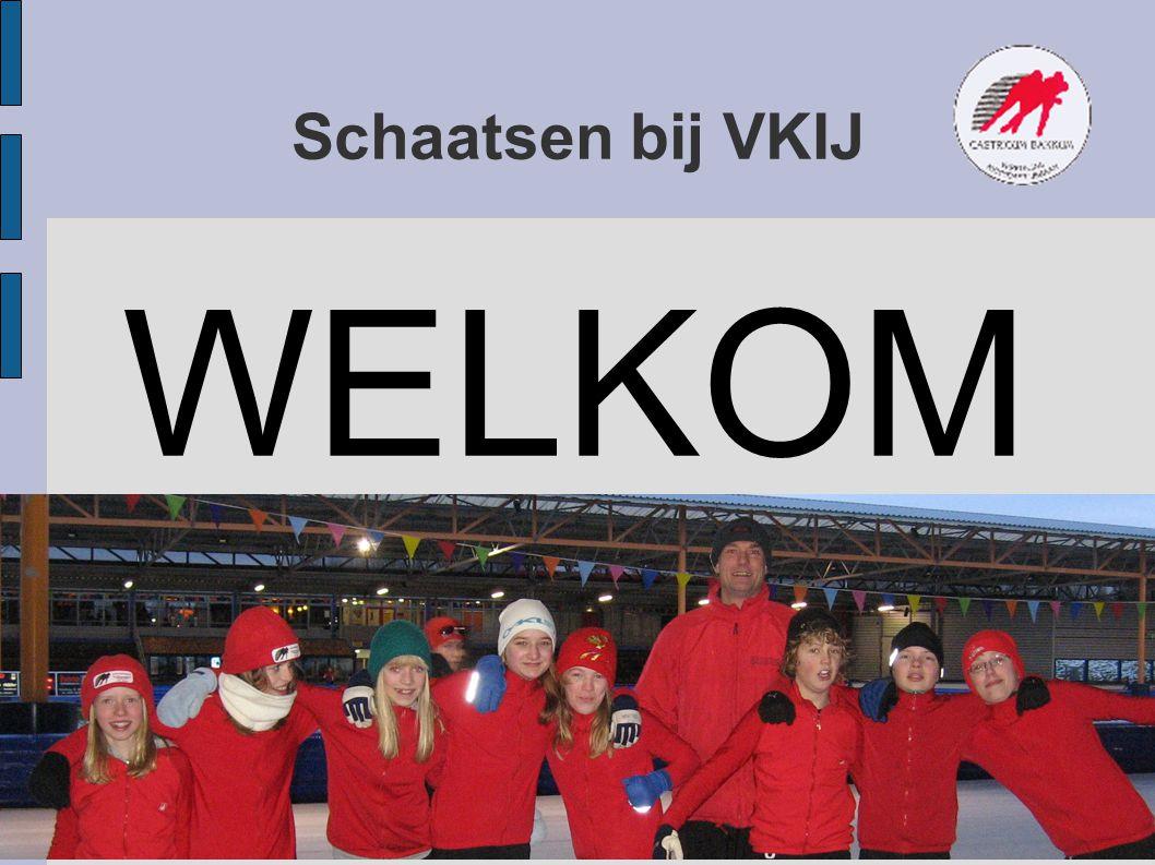 Programma Welkom Trainers IJstraining Afspraken voor ijstrainingen Droogtraining Wedstrijden Huisregels op het kunstijs www.vkij.nl Vrijwilligers nodig bij wedstrijden