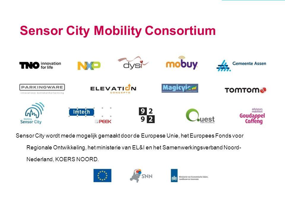 Sensor City wordt mede mogelijk gemaakt door de Europese Unie, het Europees Fonds voor Regionale Ontwikkeling, het ministerie van EL&I en het Samenwer