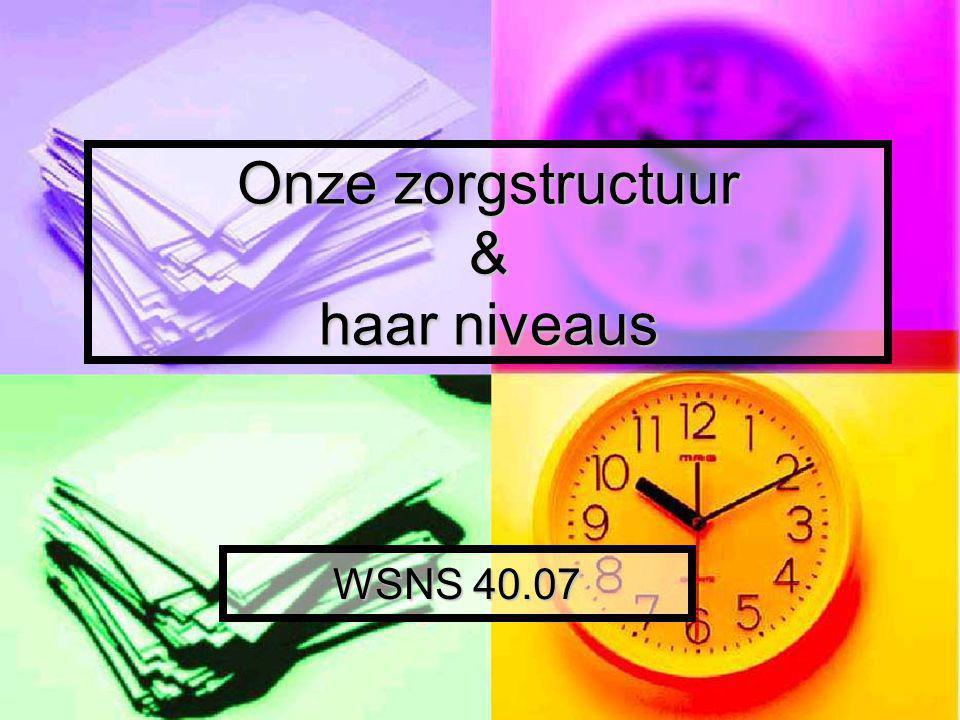 Onze zorgstructuur & haar niveaus WSNS 40.07