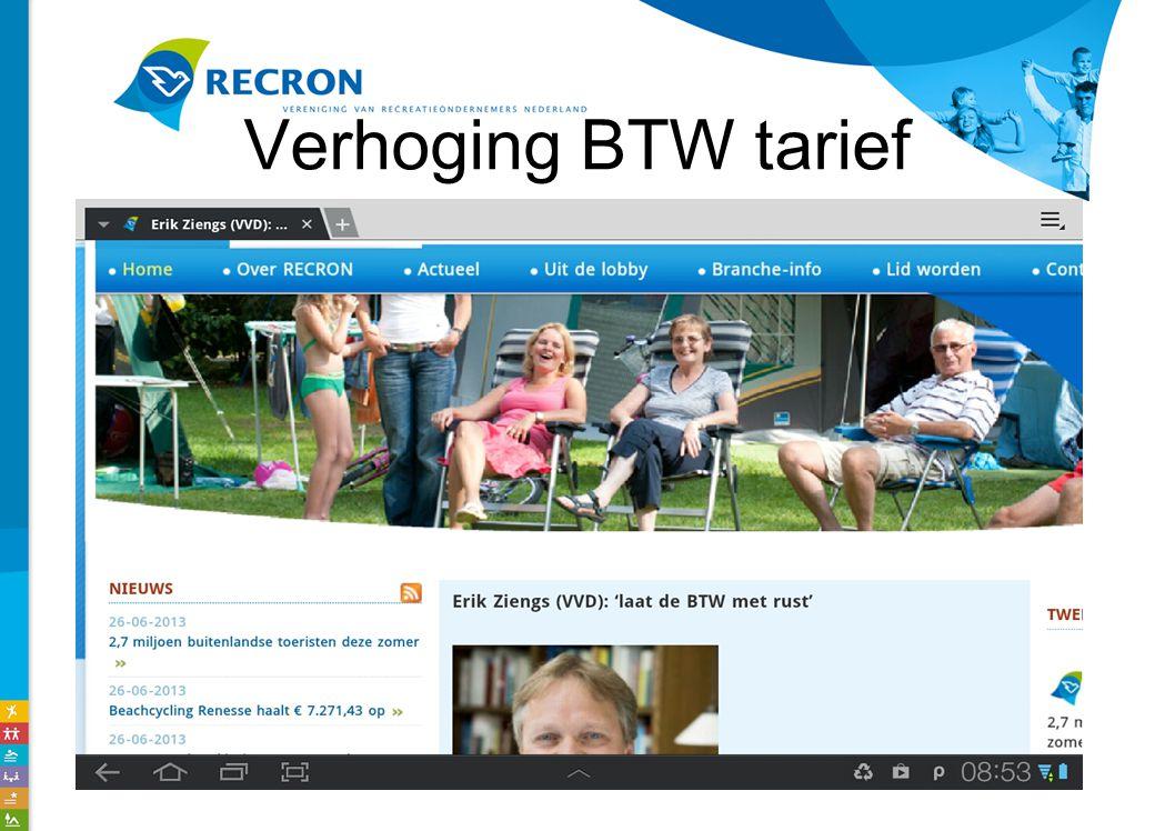 Verhoging BTW tarief