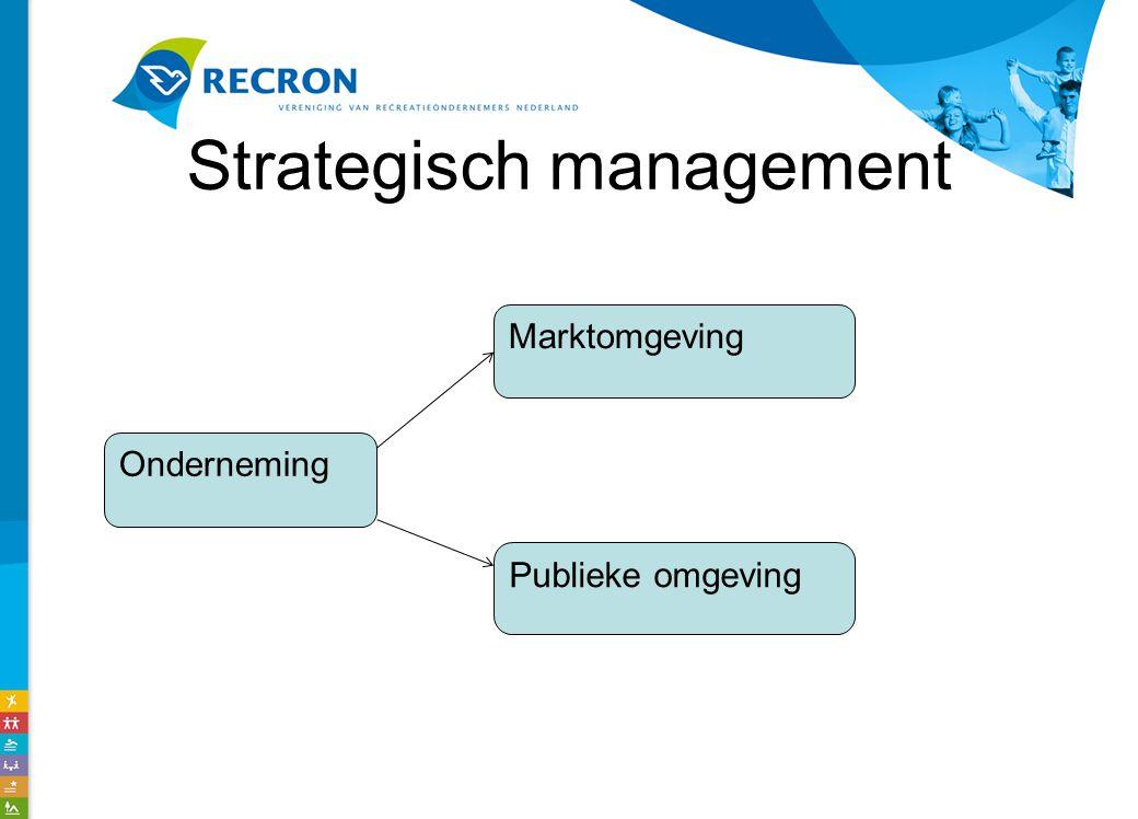 Strategisch management Onderneming Marktomgeving Publieke omgeving