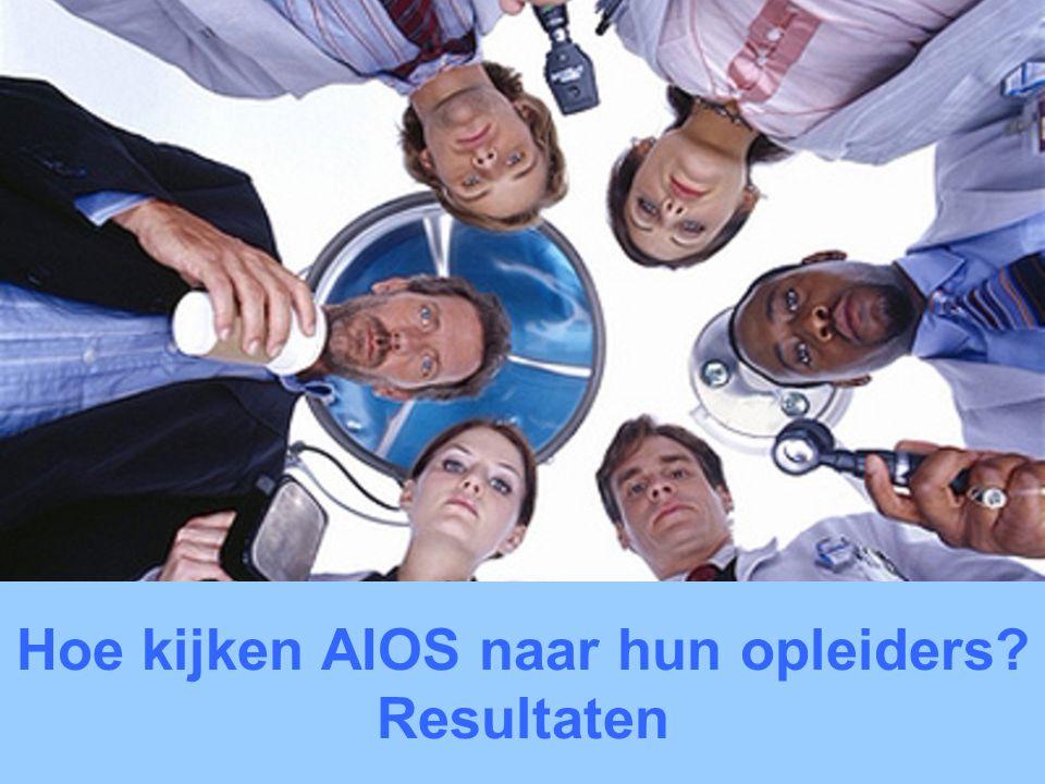 UMCG 2 mei 2010 Hoe kijken AIOS naar hun opleiders? Resultaten