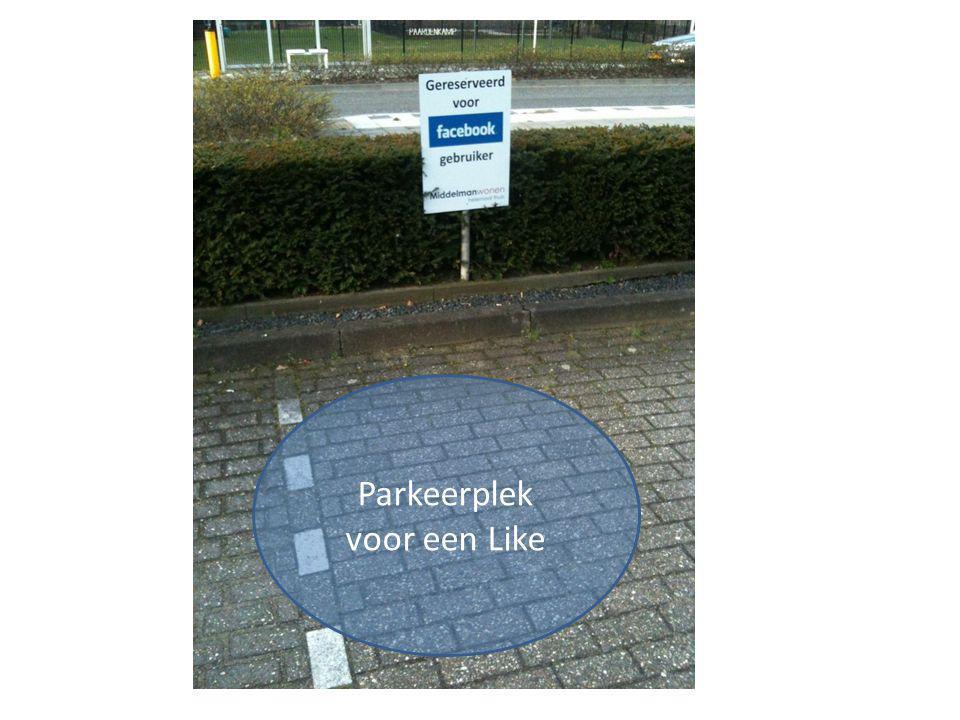 Parkeerplek voor een Like