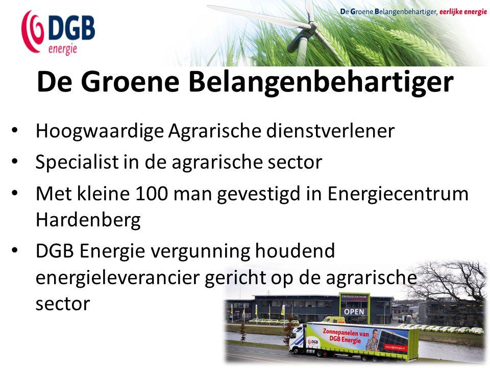 De Groene Belangenbehartiger Hoogwaardige Agrarische dienstverlener Specialist in de agrarische sector Met kleine 100 man gevestigd in Energiecentrum
