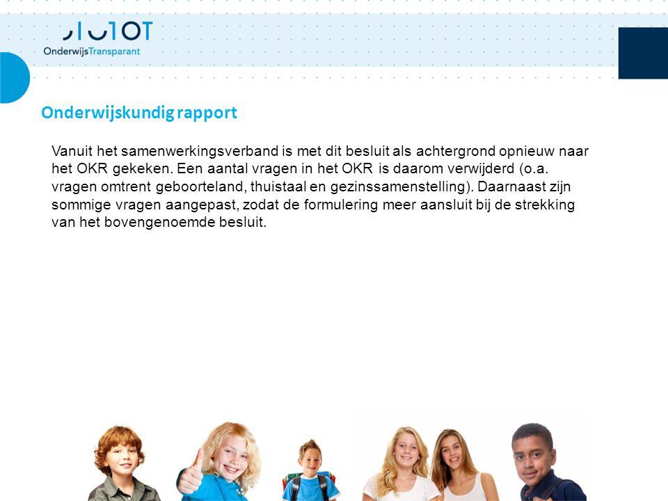 Onderwijskundig rapport Vanuit het samenwerkingsverband is met dit besluit als achtergrond opnieuw naar het OKR gekeken.