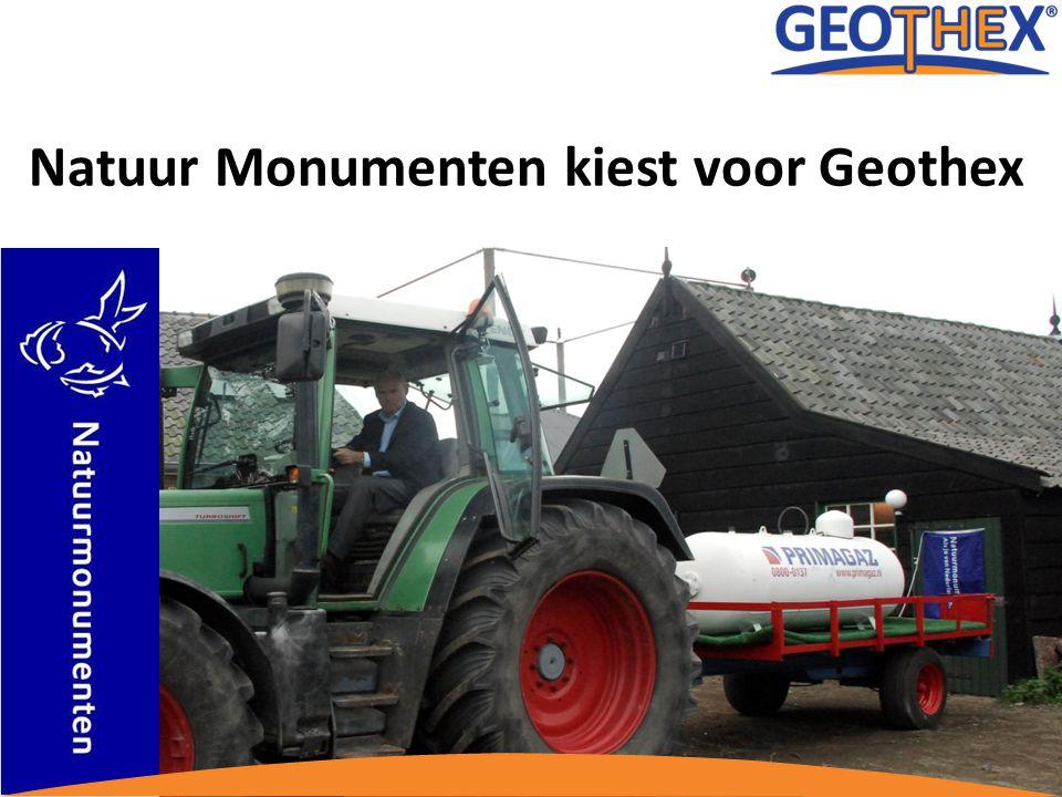 Introductie Geothex B.V. 14 april 2010 Natuur Monumenten kiest voor Geothex