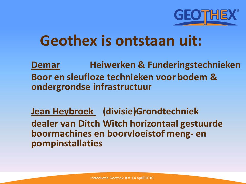 Introductie Geothex B.V.