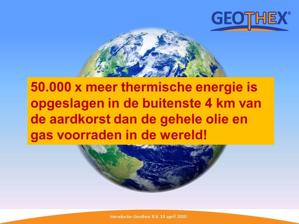 Introductie Geothex B.V. 14 april 2010 U-loop versus Geothex