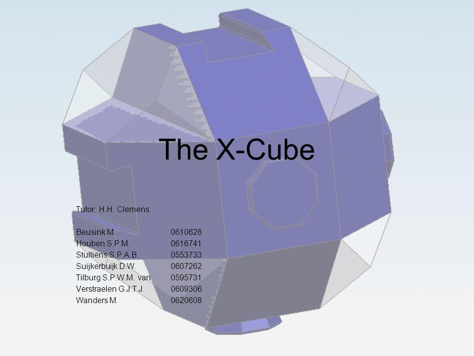 The X-Cube Tutor: H.H. Clemens Beusink M.0610628 Houben S.P.M.0616741 Stultiëns S.P.A.B.0553733 Suijkerbuijk D.W.0607262 Tilburg S.P.W.M. van0595731 V