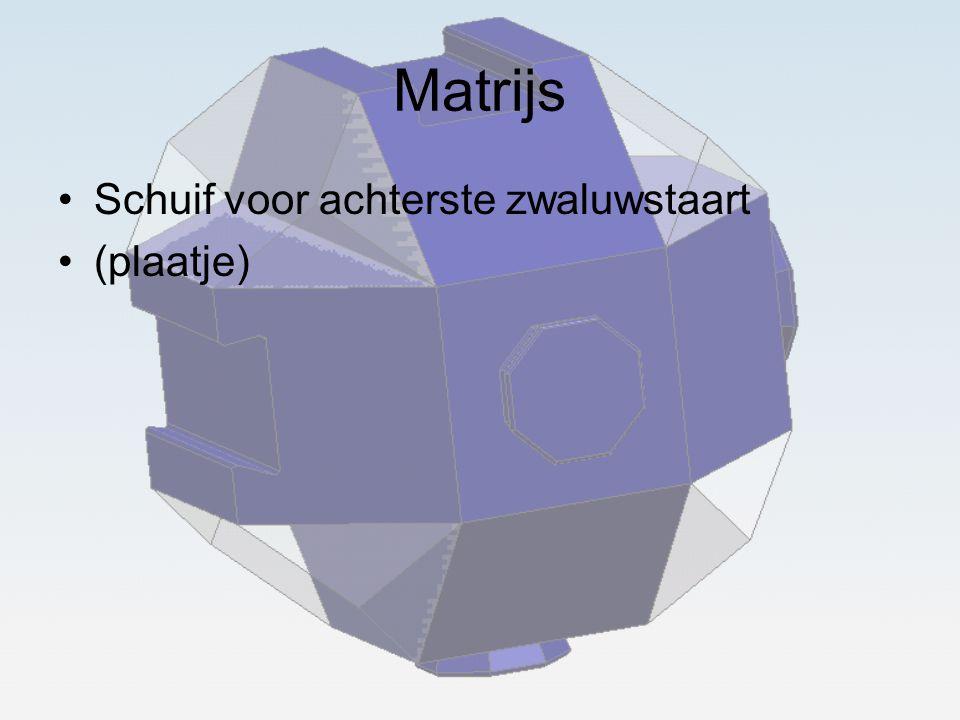 Matrijs Schuif voor achterste zwaluwstaart (plaatje)