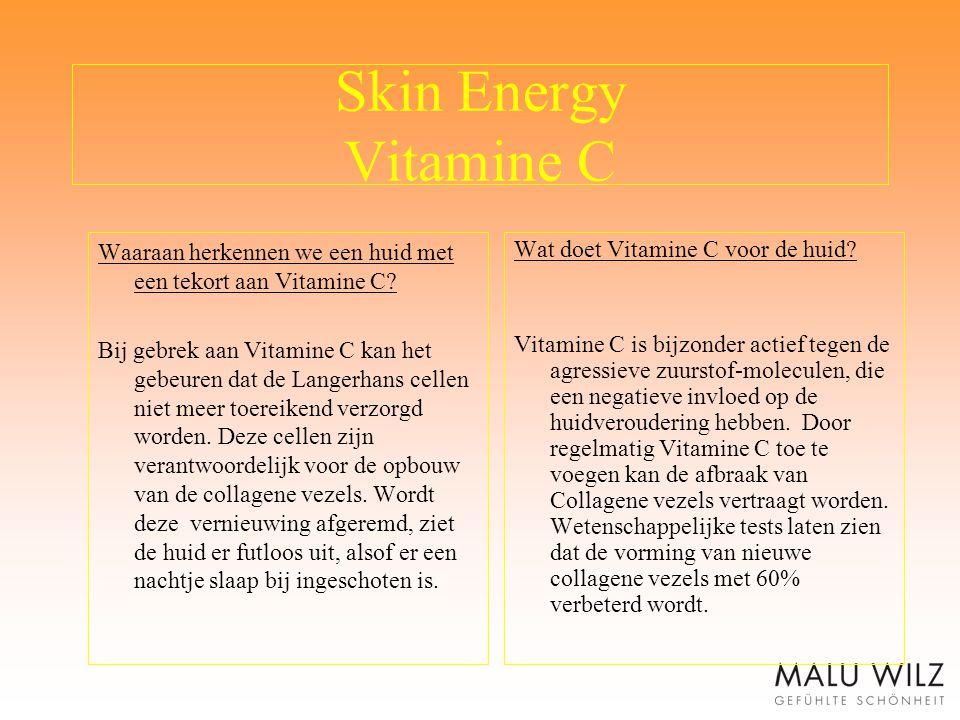 Skin Energy Vitamine C Waaraan herkennen we een huid met een tekort aan Vitamine C? Bij gebrek aan Vitamine C kan het gebeuren dat de Langerhans celle