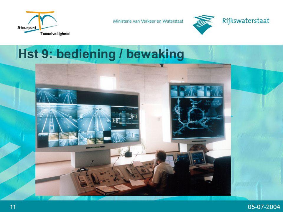 11 Hst 9: bediening / bewaking 05-07-2004