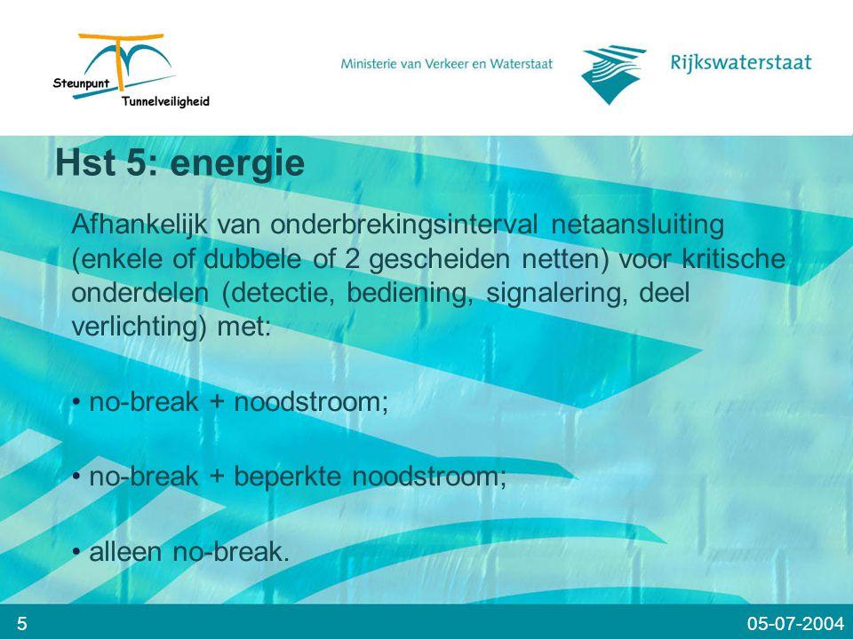 Meer weten ???? WWW.TUNNELSAFETY.NL 2605-07-2004