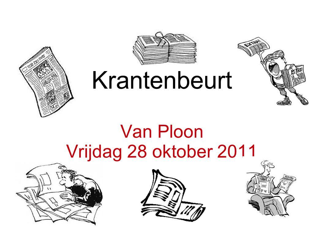 Krantenbeurt Van Ploon Vrijdag 28 oktober 2011