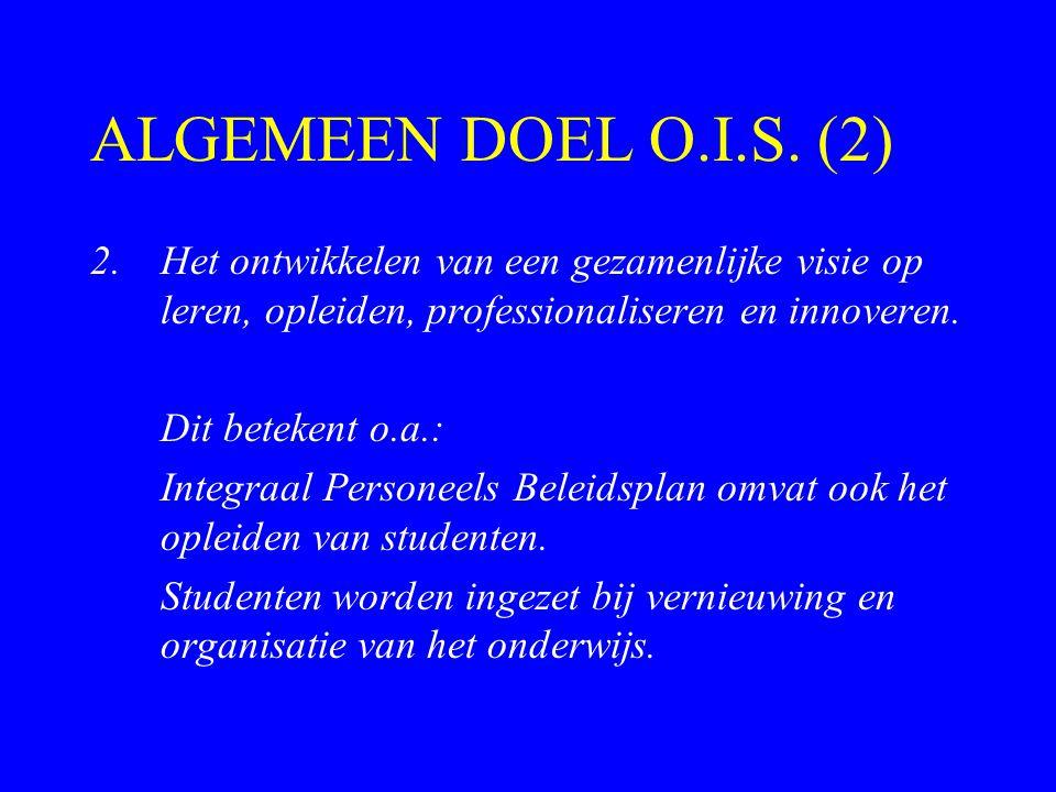 ALGEMEEN DOEL O.I.S.