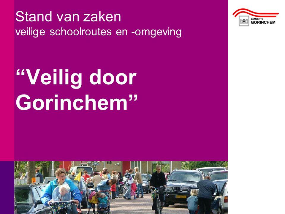 """Stand van zaken veilige schoolroutes en -omgeving """"Veilig door Gorinchem"""""""