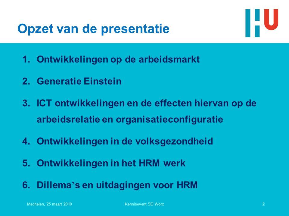 Werkende bevolking naar geslacht en arbeidsduur (2008) 12-20 uur20-35 uurMeer dan 35 uur mannen3,2%12,2%84,6% vrouwen18,1%51,7%30,2% Mechelen, 25 maart 201013Kennisevent SD Worx Taskforce deeltijd plus