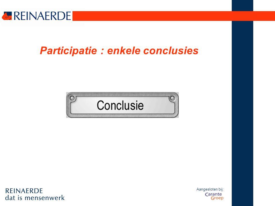 Aangesloten bij: Participatie : enkele conclusies