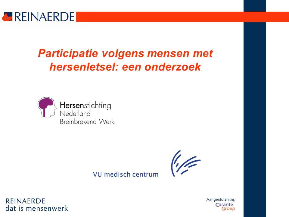 Aangesloten bij: Participatie volgens mensen met hersenletsel: een onderzoek