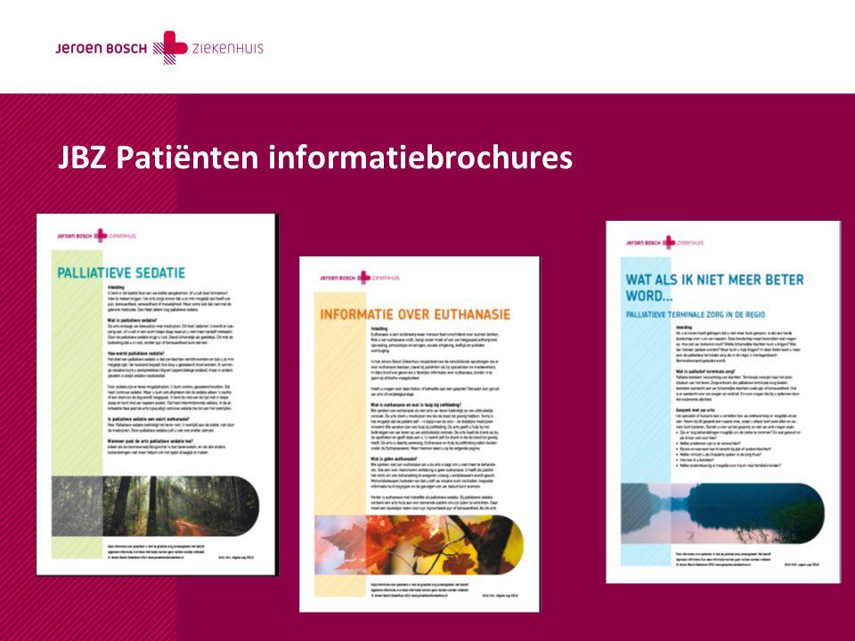 JBZ Patiënten informatiebrochures
