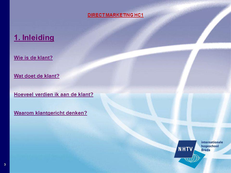 4 Direct Marketing Hc1 2.Wat is CRM.