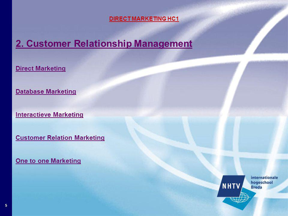 5 DIRECT MARKETING HC1 2.