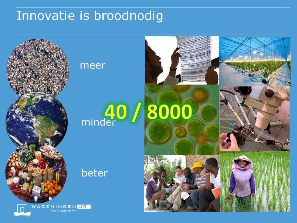 Innovatie is broodnodig meer minder beter