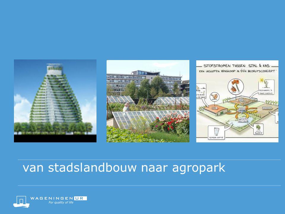 van stadslandbouw naar agropark