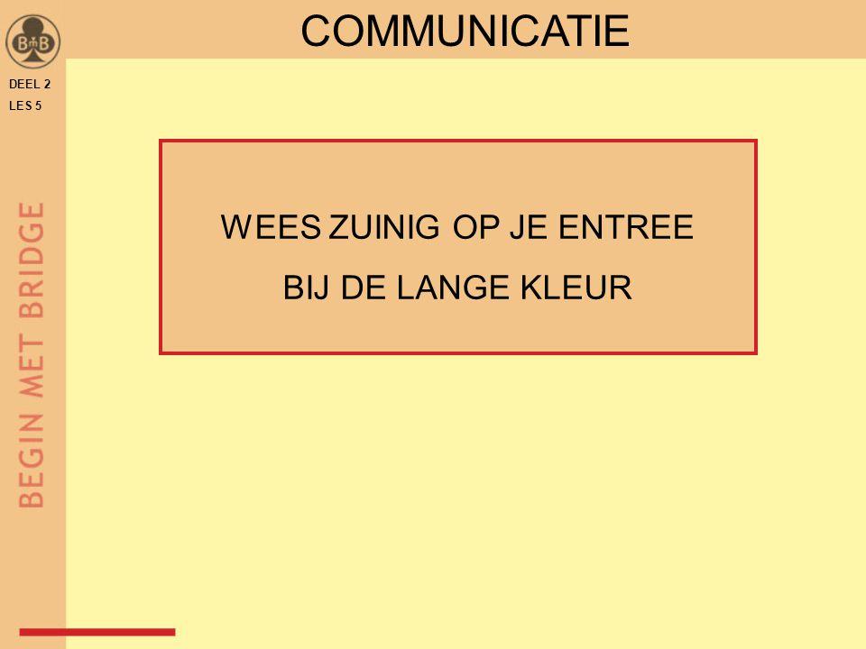 DEEL 2 LES 5 COMMUNICATIE WEES ZUINIG OP JE ENTREE BIJ DE LANGE KLEUR