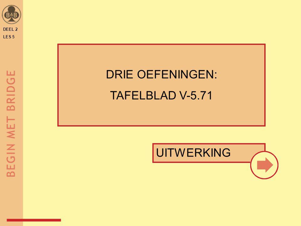 DEEL 2 LES 5 UITWERKING DRIE OEFENINGEN: TAFELBLAD V-5.71