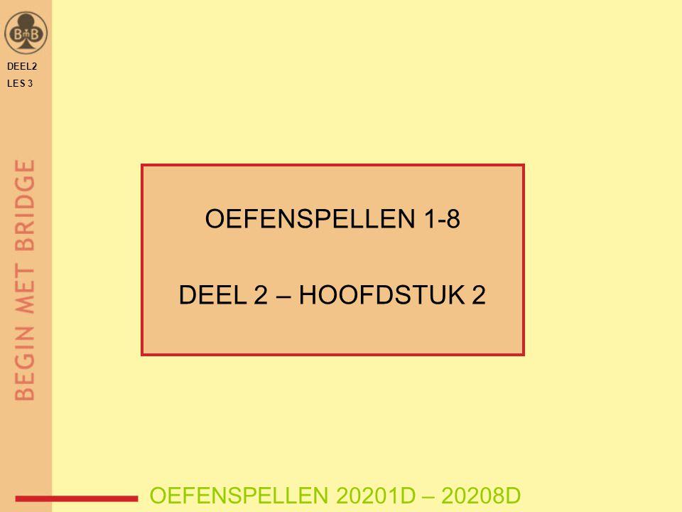 DEEL2 LES 3 OEFENSPELLEN 1-8 DEEL 2 – HOOFDSTUK 2 OEFENSPELLEN 20201D – 20208D