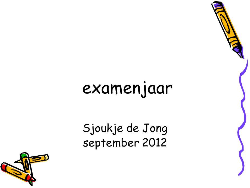 examenjaar Sjoukje de Jong september 2012