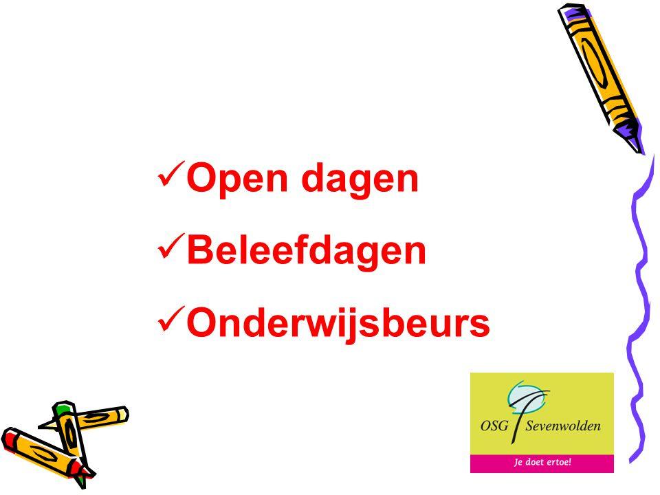 Open dagen Beleefdagen Onderwijsbeurs