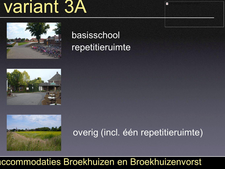variant 3A accommodaties Broekhuizen en Broekhuizenvorst basisschool overig (incl. één repetitieruimte) repetitieruimte