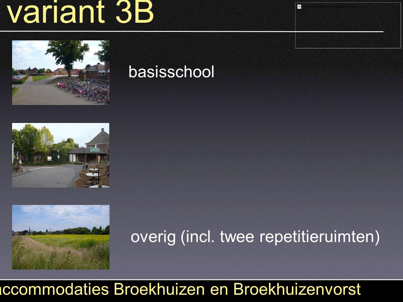 variant 3B accommodaties Broekhuizen en Broekhuizenvorst basisschool overig (incl. twee repetitieruimten)