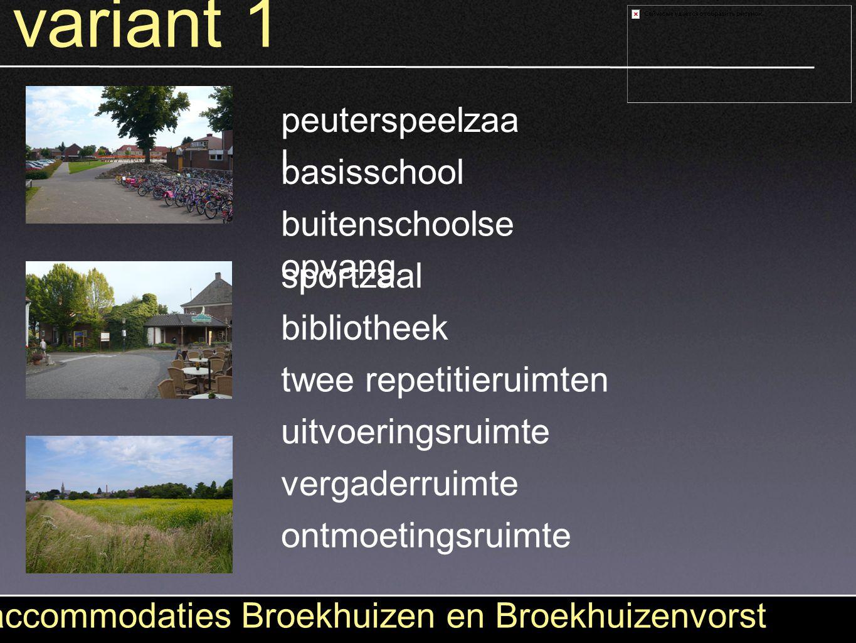 variant 1 accommodaties Broekhuizen en Broekhuizenvorst peuterspeelzaa l basisschool buitenschoolse opvang sportzaal bibliotheek twee repetitieruimten