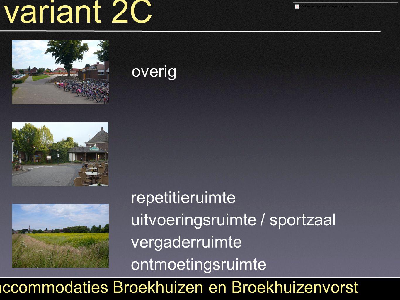 variant 2C accommodaties Broekhuizen en Broekhuizenvorst uitvoeringsruimte / sportzaal ontmoetingsruimte vergaderruimte repetitieruimte overig