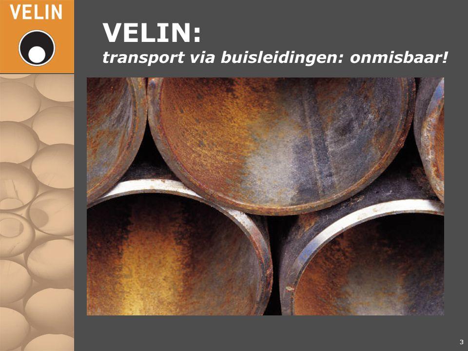 4 VELIN: Transport van gassen en gevaarlijke vloeistoffen door buisleidingen n 13.500 km aardgasleidingen n 4.500 km vloeistofleidingen / overige stoffen - aardolie - aardolieproducten - chemicaliën n 24 leden n Website www.Velin.nl