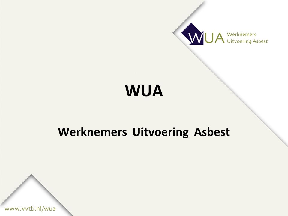 WUA Werknemers Uitvoering Asbest