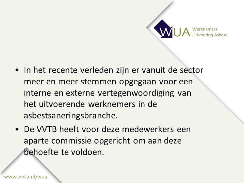 In het recente verleden zijn er vanuit de sector meer en meer stemmen opgegaan voor een interne en externe vertegenwoordiging van het uitvoerende werknemers in de asbestsaneringsbranche.